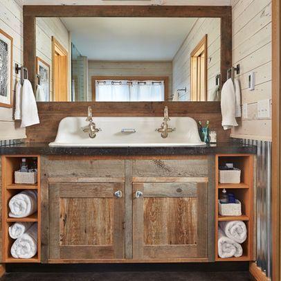 Cute Rustic Bathroom Vanities