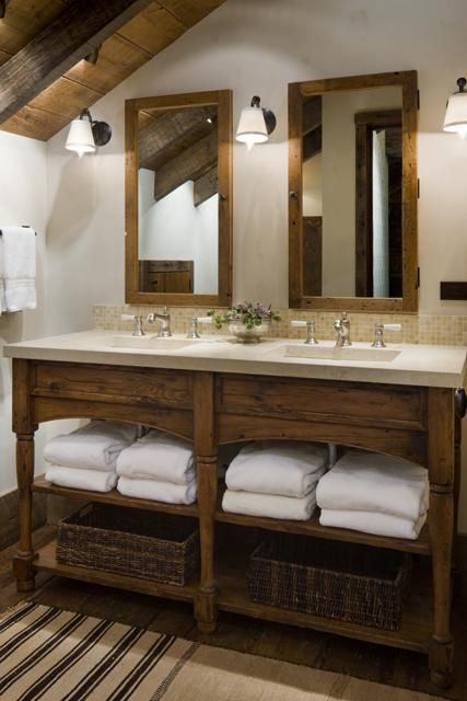26 Impressive Ideas of Rustic Bathroom Vanity | Rustic bathroom .
