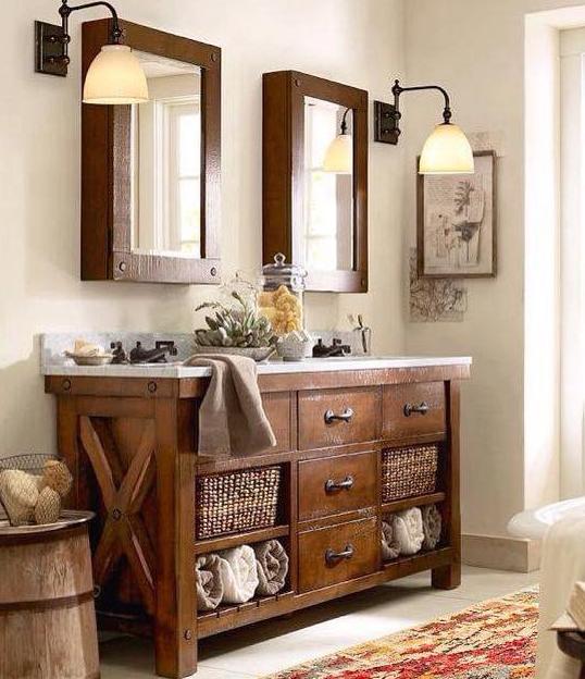 35 Ideas for Rustic Bathroom Vanities - Bathroom Ide