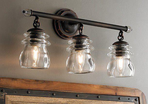 24 Rustic Bathroom Vanity Lights Ideas | Rustic bathroom lighting .