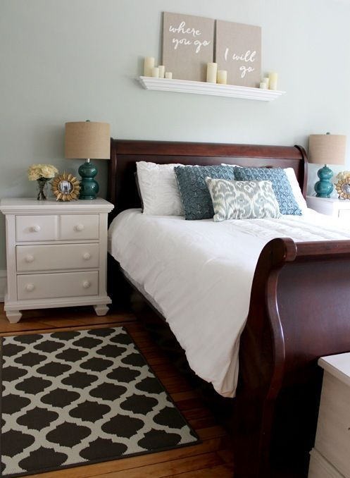 25 Dark Wood Bedroom Furniture Decorating Ideas | Master bedroom .