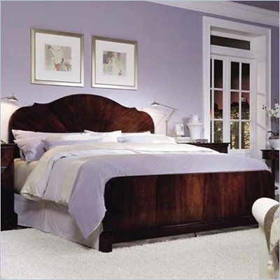 I love this yummy dark wood with the lavender | Wood bedroom decor .