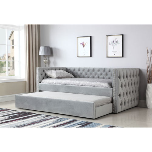 251 First Vivian Gray Trundle Day Bed | Bellac