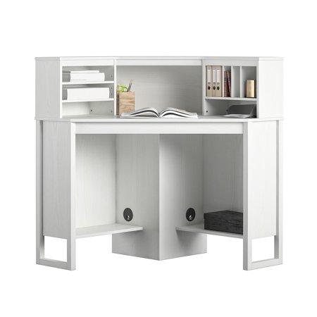 Mainstays Corner Desk with Hutch, White - Walmart.com - Walmart.c