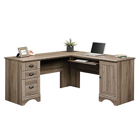 Sauder Harbor View Corner Desk Salt Oak - Office Dep