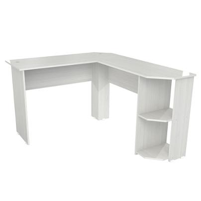 Inval Merlin L Shaped Corner Desk Washed Oak - Office Dep
