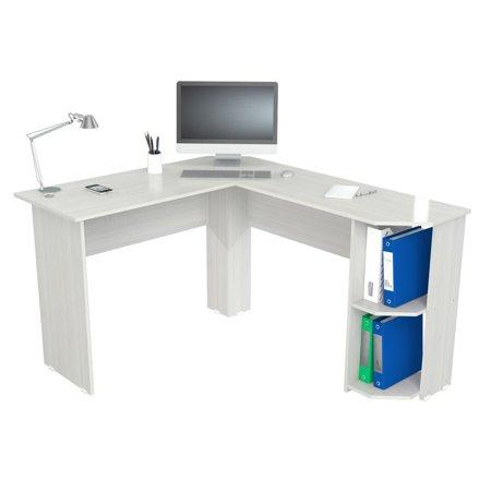 Inval Merlin Traditional White Corner Desk - Walmart.com - Walmart.c