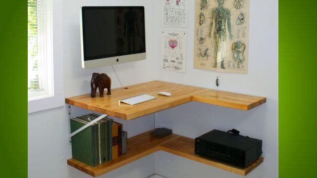 The Floating Corner Desk | Floating corner desk, Small corner desk .