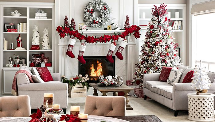 Open-Plan Living Space Holiday Decor Ide