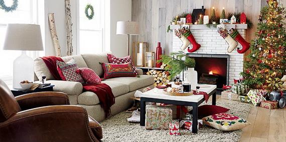 60 Elegant Christmas Country Living Room Decor Ideas | family .