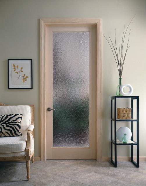 Bordeaux Decorative Glass Interior Door - Contemporary - Home .