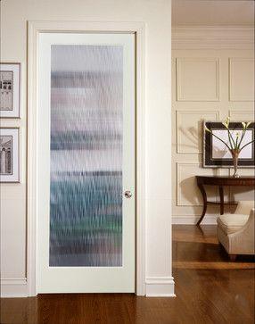 Narrow Reed Decorative Glass Interior Door | French doors interior .