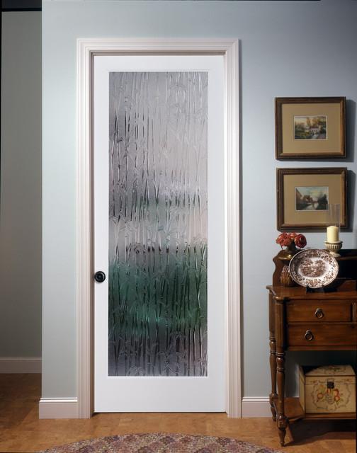 Bamboo Decorative Glass Interior Door - Eclectic - Family Room .