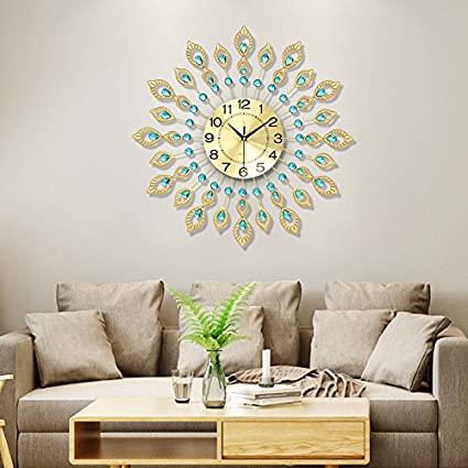 Amazon.com: WuuLii Decor Wall Clock- Living Room Large Wall Clock .