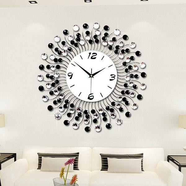 Modern Classic Living Room Diamond Decorative Wall Clock .