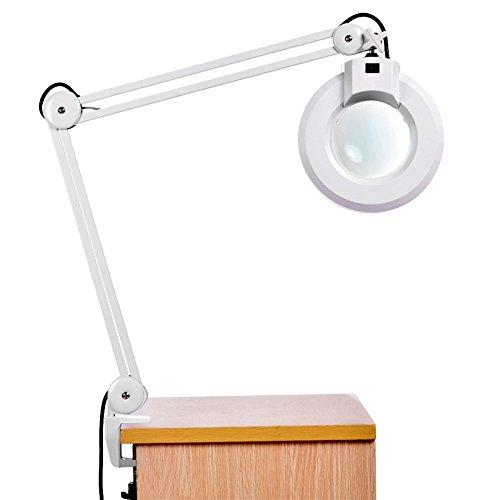 LED Desk Lamp - BANGWEIER 8X Magnifying Desk Table Clamp Lamp .