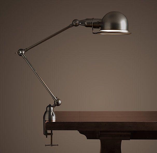 ATELIER TASK TABLE CLAMP LAMP BRONZE $209 Restoration hardware 22½ .