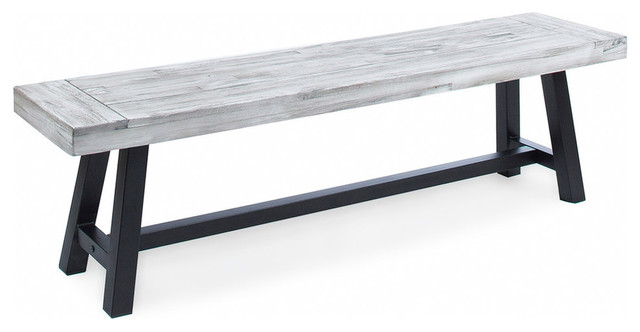 GDF Studio Angelina Indoor Farmhouse Acacia Wood Dining Bench .