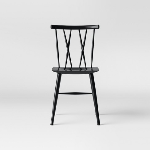 Becket Metal X Back Dining Chair Black - Project 62™ : Targ
