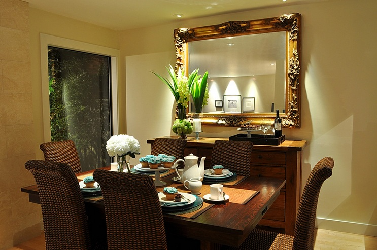 Dining room buffet decorating ideas with large antique framed .