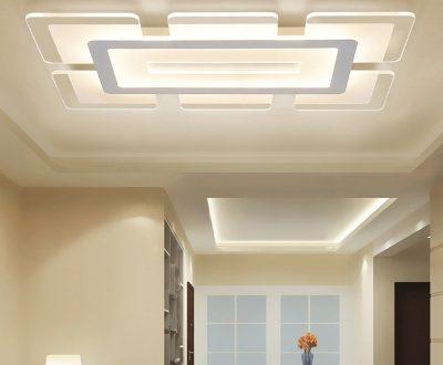 Rectangular LED Flush Light Minimalist Acrylic Ultrathin Ceiling .