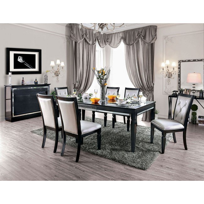 Alena Dining Room Set (Black) Furniture Of America | Furniture Ca