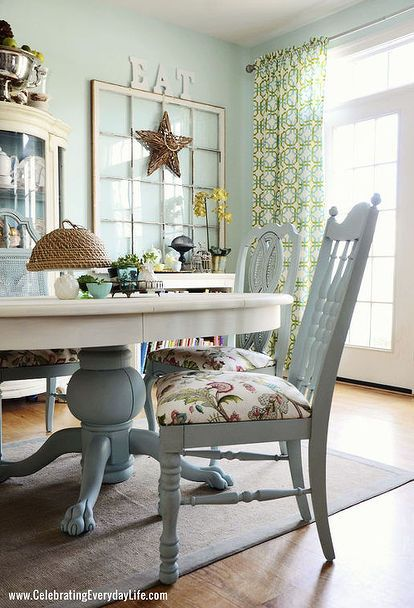 Dining Room Table and Chairs Makeover with Annie Sloan Chalk Paint .