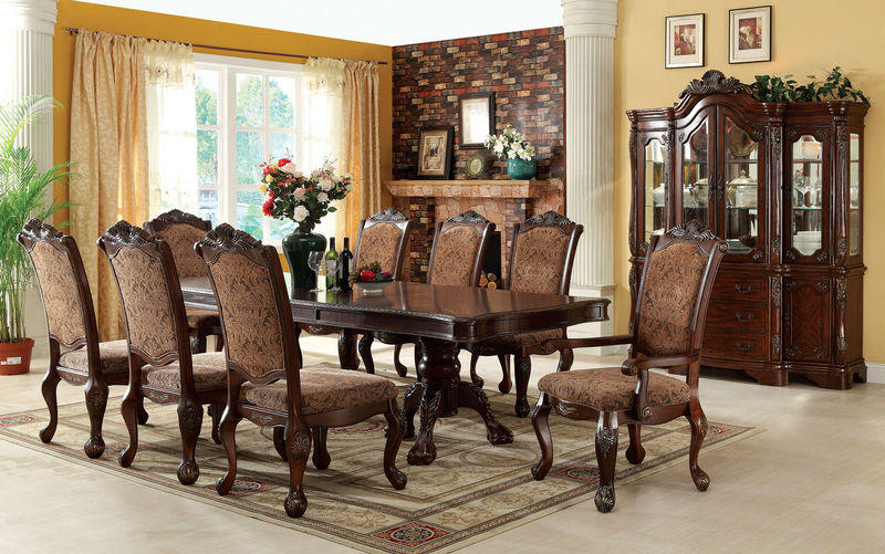 Furniture of America | CM3103T Cromwell Formal Dining Room Set .