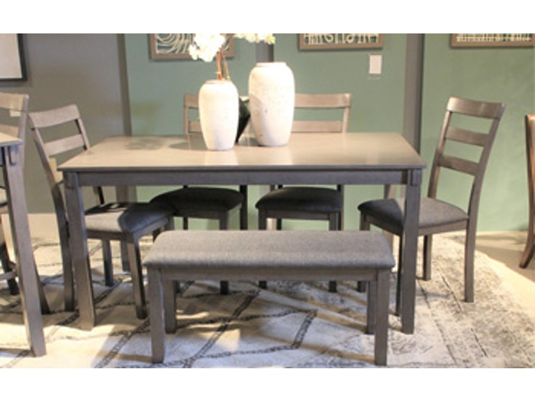 Ashley Bridson Dining Room Table and Chairs with Bench (Set of 6 .