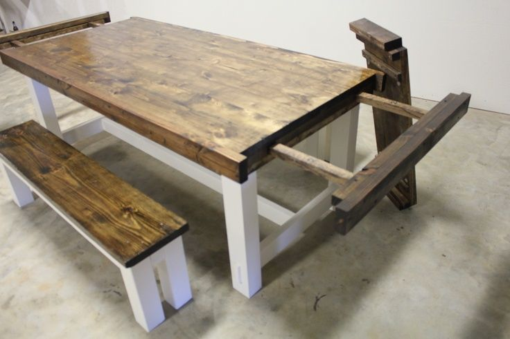 how to build farmhouse dining table with leaves - Google Search .