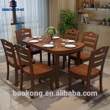 Dining Table Set 6 Chairs Restaurant Wooden Furniture - Buy Chairs .