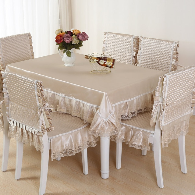 Top grade quilting dining table cloth chair covers cushion tables .