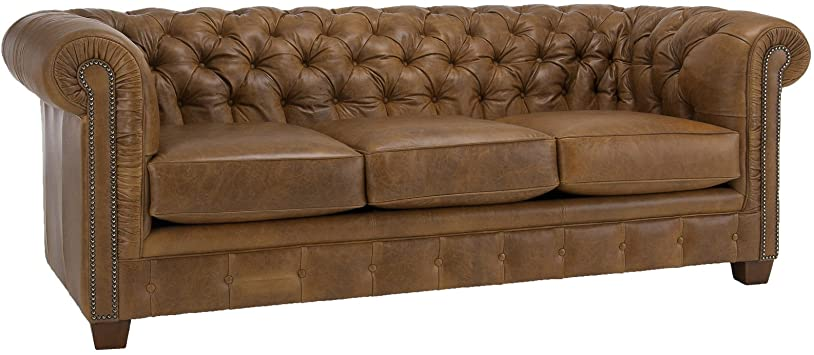 Amazon.com: Metro Shop Hancock Tufted Distressed Saddle Brown .