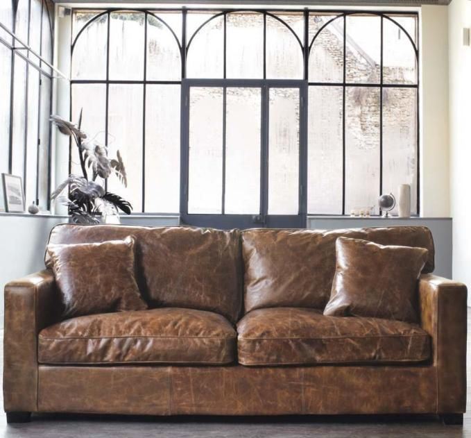 tan leather couch melbourne | Weathered leather sofa | Family Room .