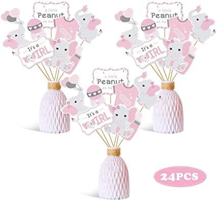 Amazon.com: Faisichocalato Pink Elephant Centerpiece Sticks DIY .