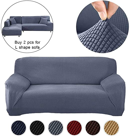 Amazon.com: Hengwei Sectional Sofa Cover Stretch Couch Slipcover 1 .