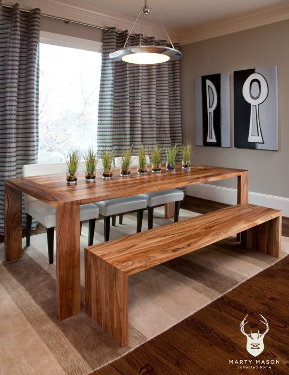 DIY Dining Table And Bench Plans Wooden PDF woodworkers network .