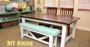 DIY Farmhouse Table & Bench - Happiness is Homema