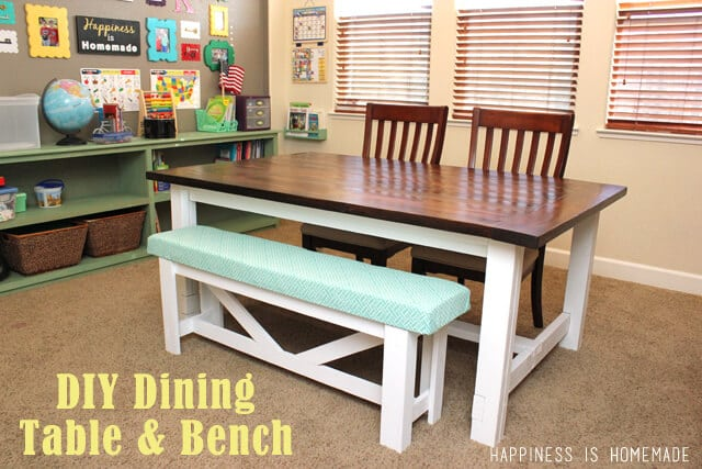 Diy Dining Room Sets With Bench