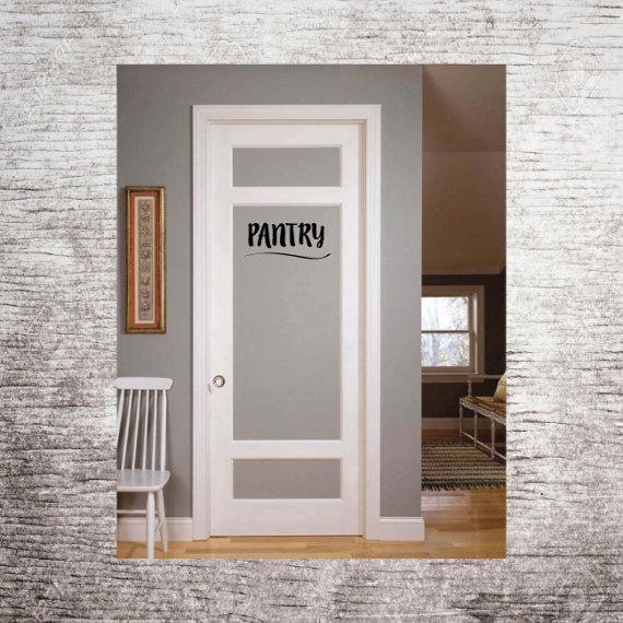 Pantry Vinyl Decal for Pantry Door Pantry by TaylorGeorgeDesigns .