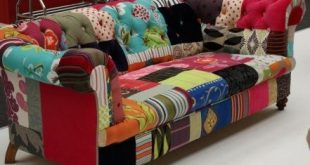 Call me crazy, but I love this patchwork sofa!! Hobby lobby had .