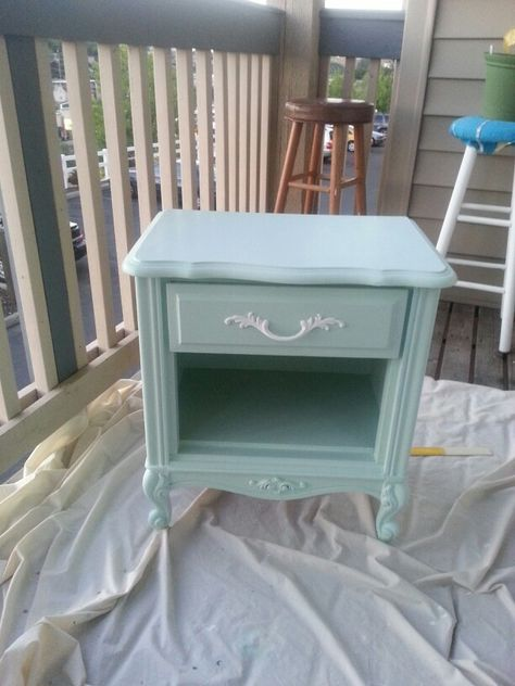 Shabby chic bedside table #diy#furniture | Shabby chic furniture .