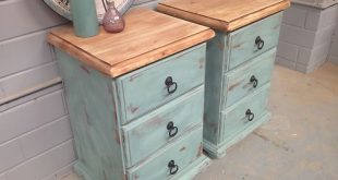 2X Shabby Chic Bedside Tables French Drawers Vintage Rustic Beach .