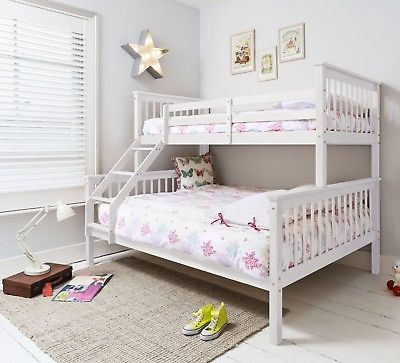 Triple Bed, Bunk Bed, Double Bed in White Hanna Kids | eB
