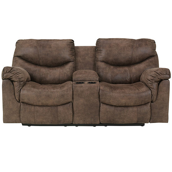 Signature Design by Ashley® Holton Double Reclining Loveseat with .