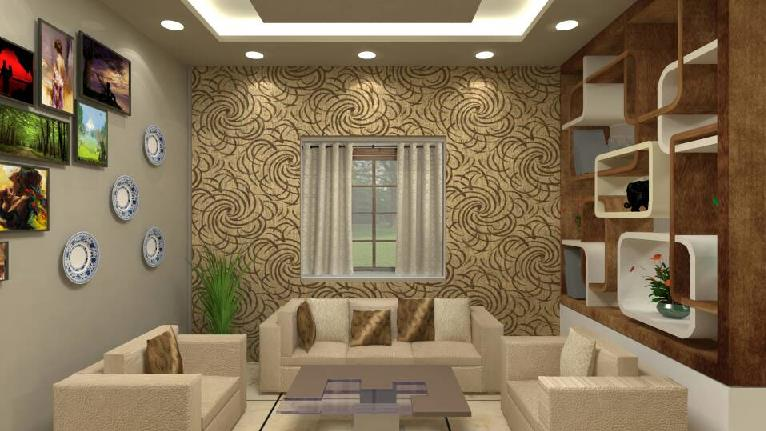 Small Drawing Room Design - GharExpe