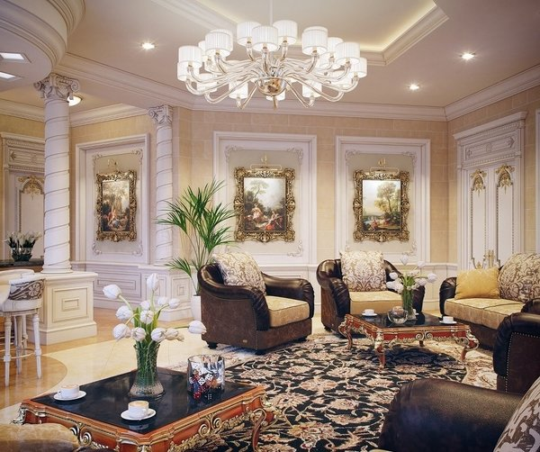 Drawing room design ideas - classic and modern interio