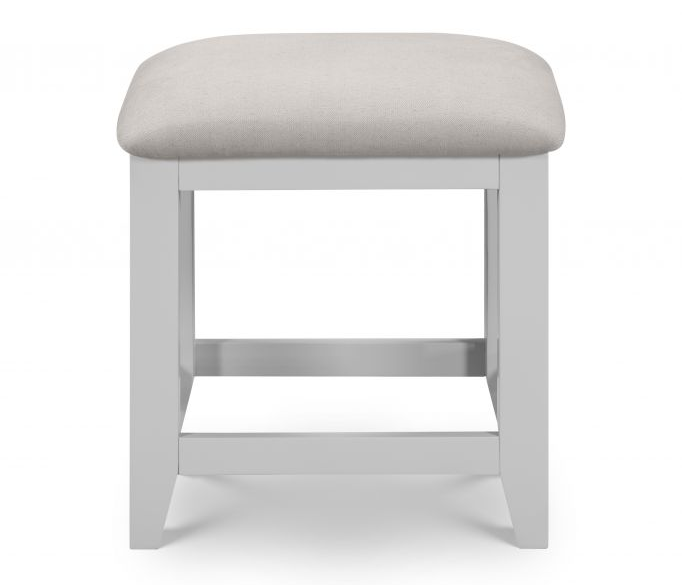 Julian Bowen Richmond Grey and Solid Oak Dressing Table Stool from .