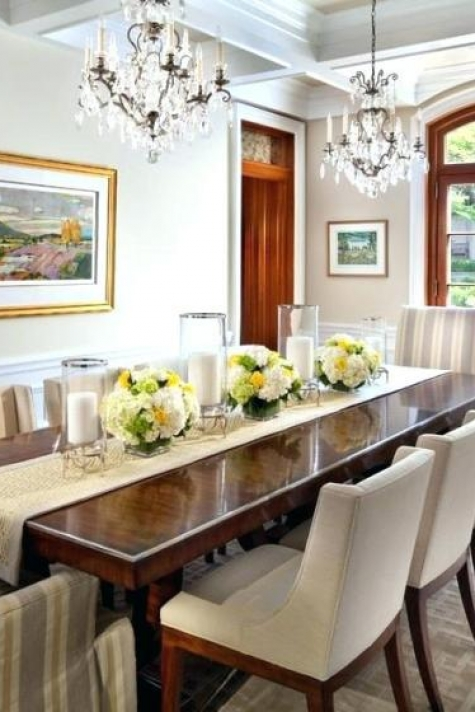 Breakfast Table Centerpiece Dinner Decor Ideas Dining Room .