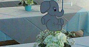 My centerpiece,baby shower elephant theme   Elephant baby shower .